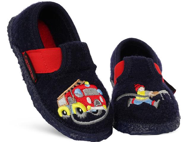 Giesswein Trulben Zapatillas de Casa Niños, azul/rojo